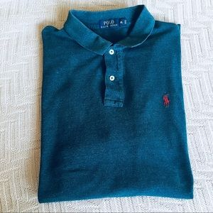 Polo by Ralph Lauren heathered blue polo shirt, XL